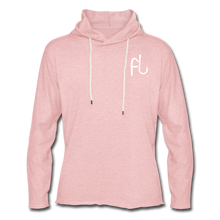 Load image into Gallery viewer, Flip Lures White Logo Unisex Lightweight Terry Hoodie - cream heather pink