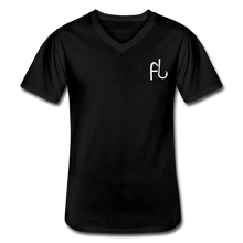 Load image into Gallery viewer, Flip Lures White Logo V-Neck T-Shirt - black