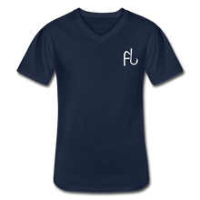 Load image into Gallery viewer, Flip Lures White Logo V-Neck T-Shirt - navy