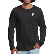 Load image into Gallery viewer, Flip Lures White Logo Back and Front Long Sleeve T - black