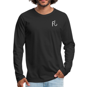Flip Lures White Logo Back and Front Long Sleeve T - black