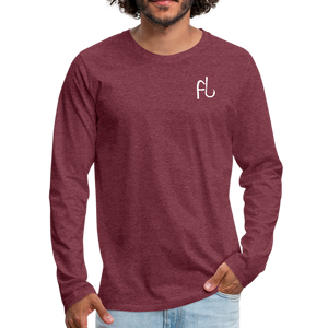 Flip Lures White Logo Back and Front Long Sleeve T - heather burgundy
