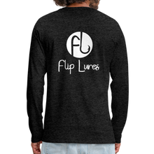 Load image into Gallery viewer, Flip Lures White Logo Back and Front Long Sleeve T - charcoal gray
