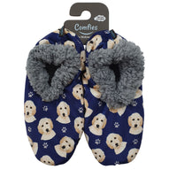 Goldendoodle Dog Slippers - Women Size 5-11 - Anti-Slip - Comfies