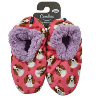 King Charles Cavalier Dog Slippers - Women Size 5-11 - Anti-Slip - Comfies
