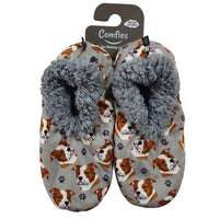 Pit Bull Dog Slippers - Women Size 5-11 - Anti-Slip - Comfies