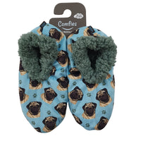 Pug Dog Slippers - Women Size 5-11 - Anti-Slip - Comfies