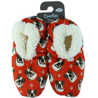 Bulldog Dog Slippers - Women Size 5-11 - Anti-Slip - Comfies