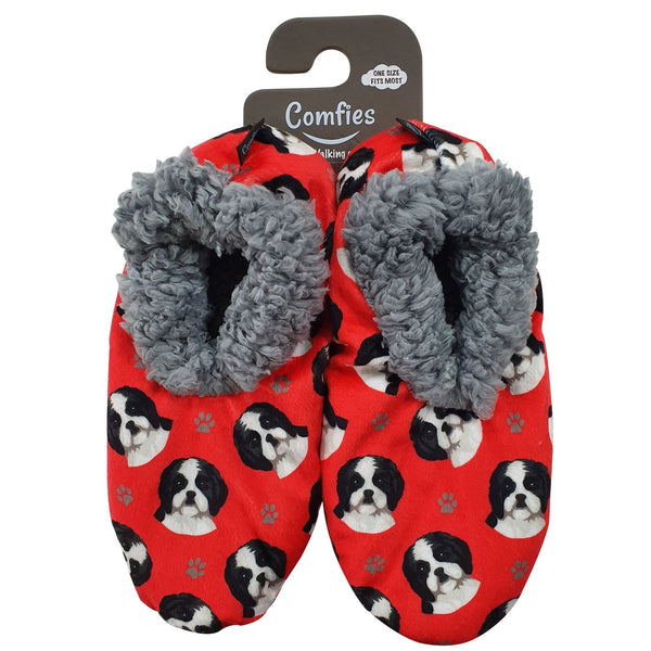Shih Tzu Dog Slippers - Women Size 5-11 - Anti-Slip - Comfies