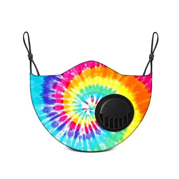 Adult Face Mask With Replaceable Carbon Filter - Tie Dye - Living Royal