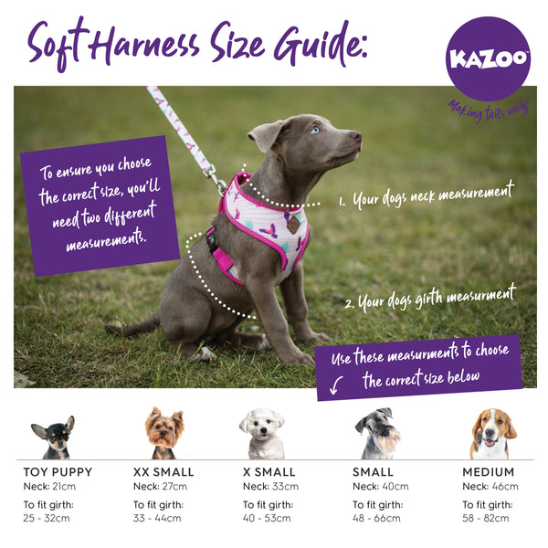 Kazoo soft harness size guide