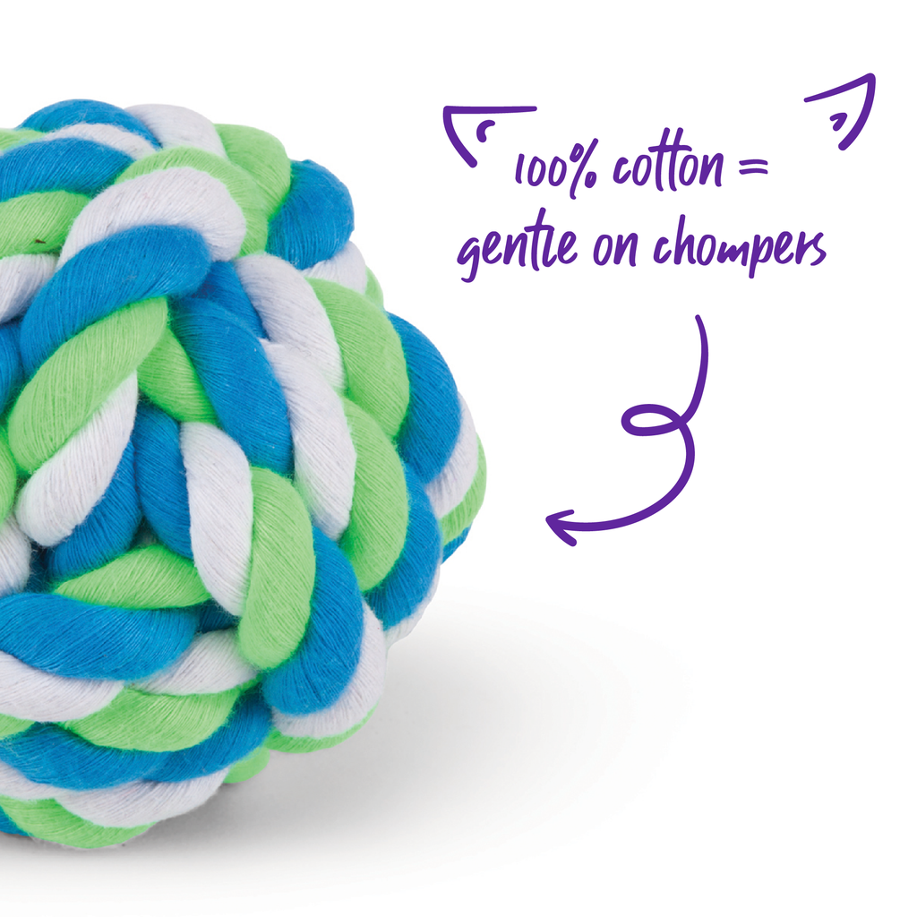 Twisted Rope Knot Ball - Kazoo Pet Co
