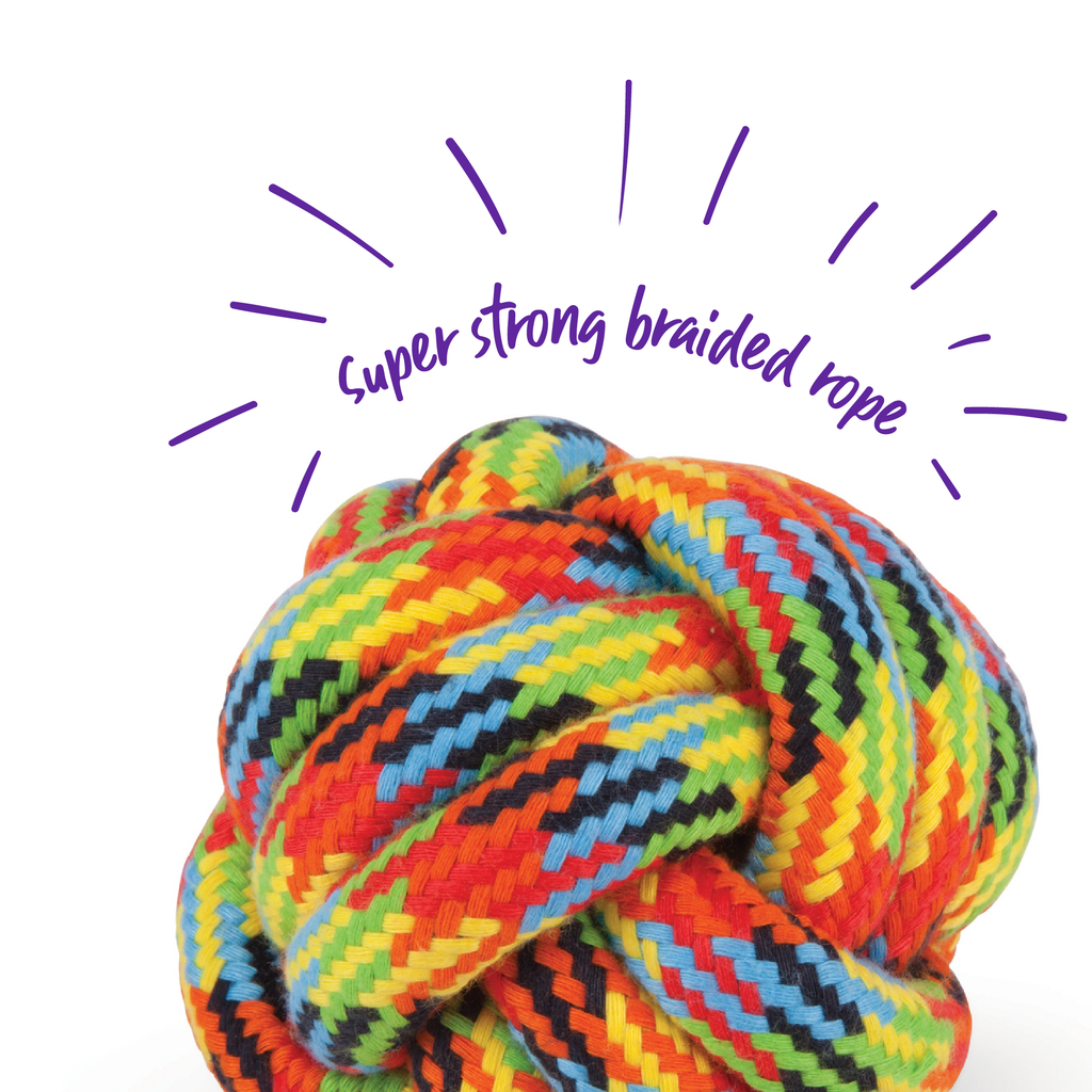 Braided Rope Knot Ball - Kazoo Pet Co