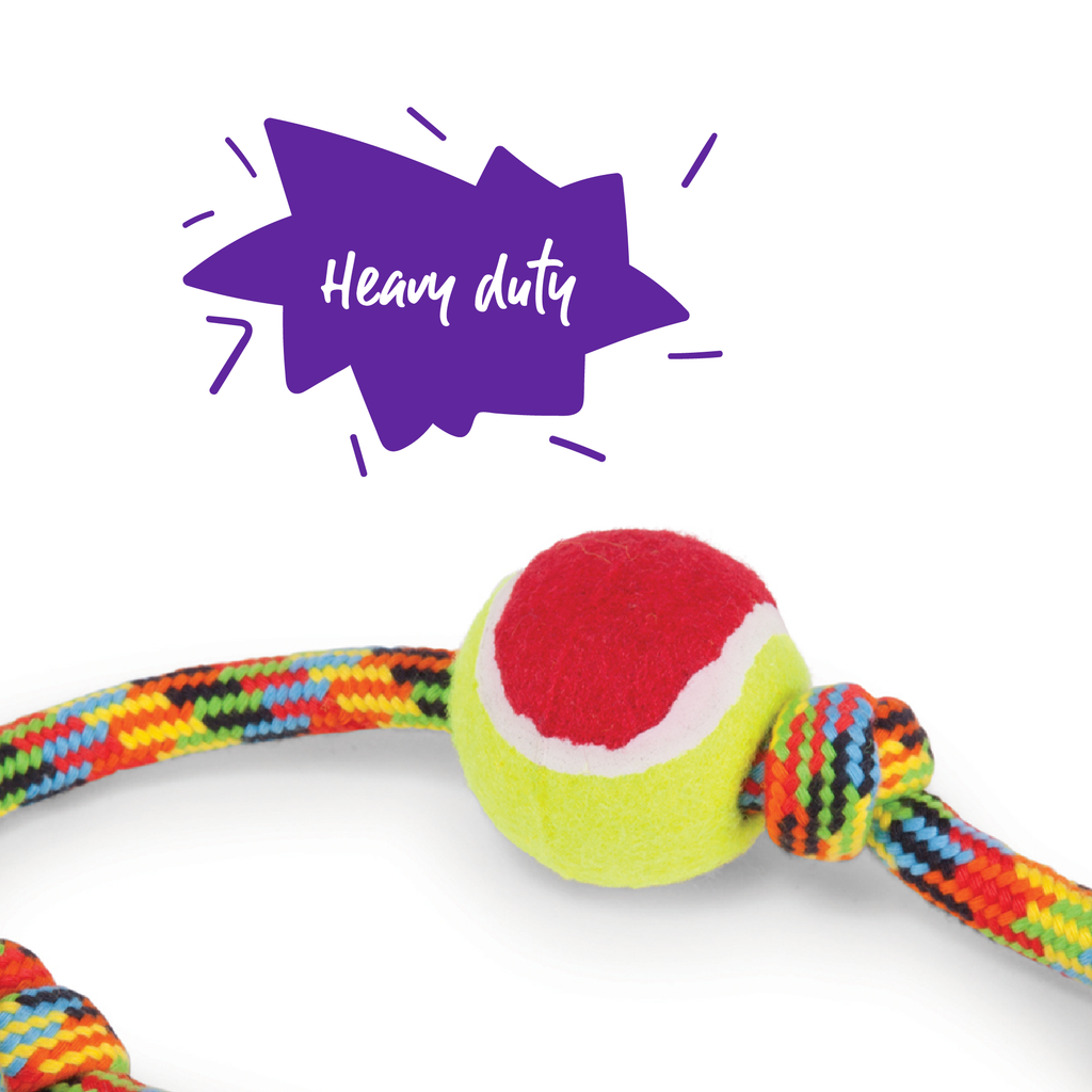 Braided Rope Sling Tennis Ball - Kazoo Pet Co