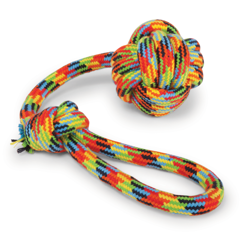 Braided Rope Sling Knot Ball - Kazoo Pet Co