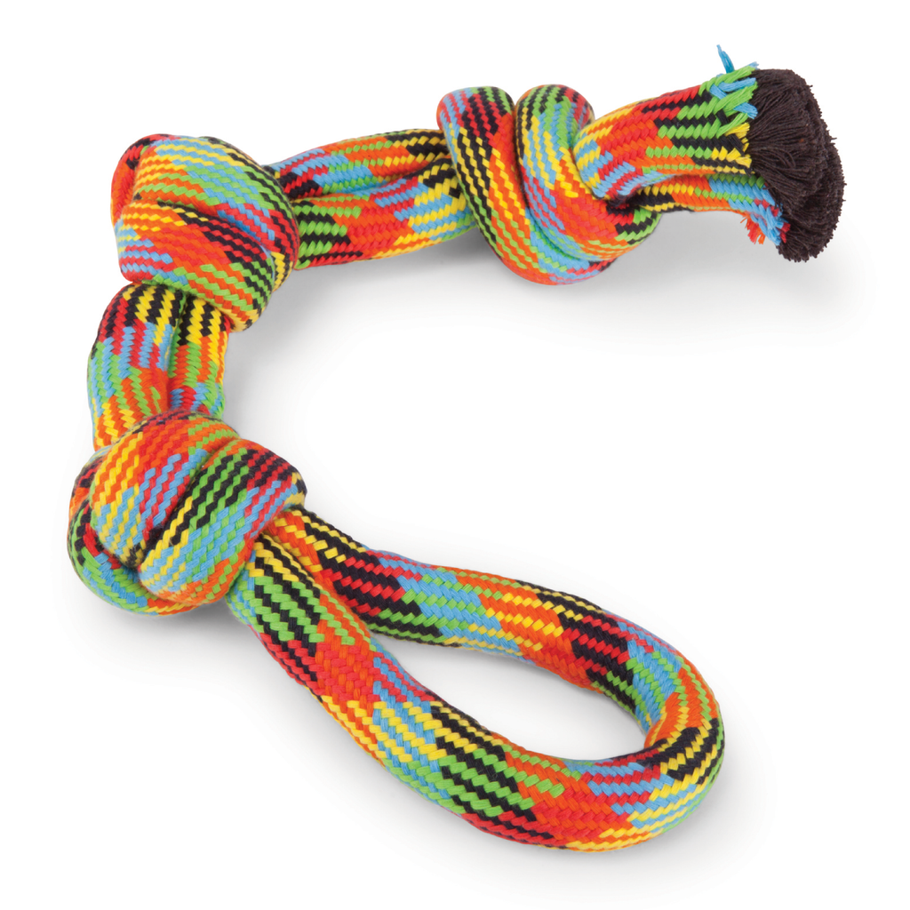 Braided Rope 3 Knot Tug - XL - Kazoo Pet Co