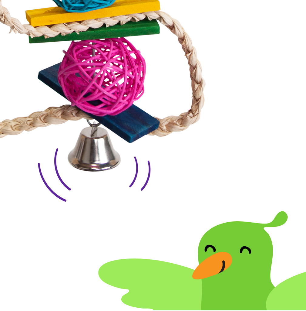 Snake Wicker Ball & Bell - Kazoo Pet Co