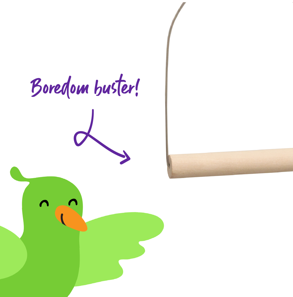 Wooden D Swing - Kazoo Pet Co