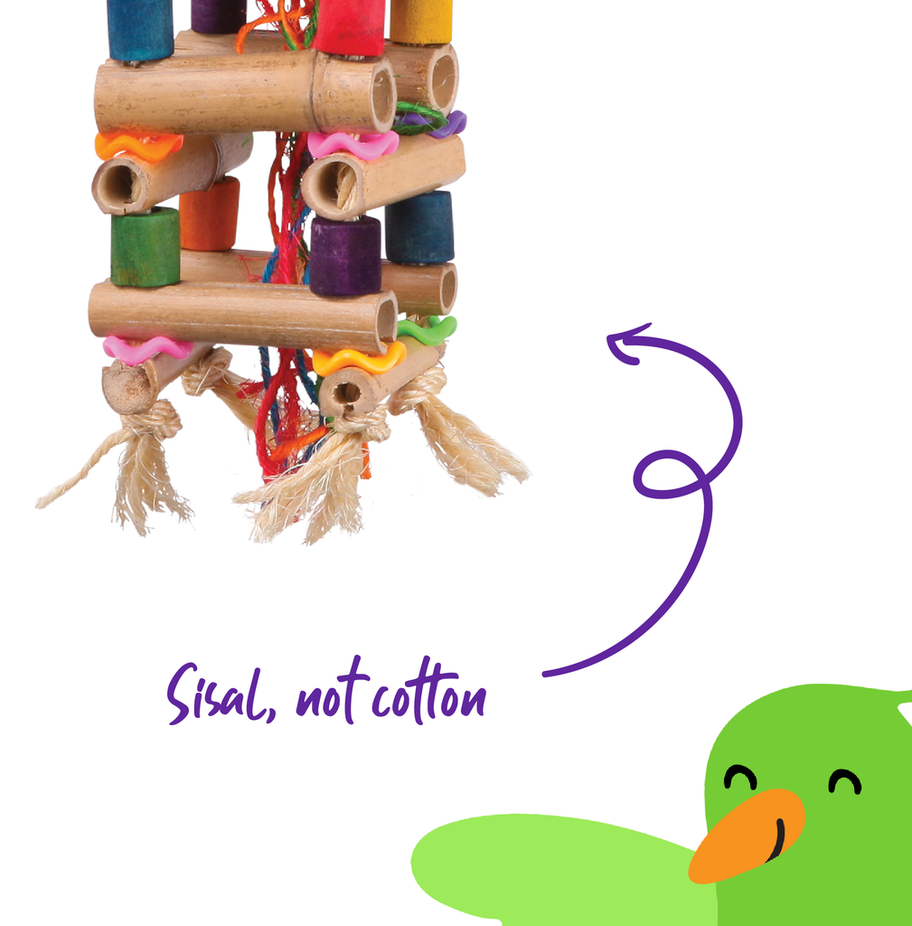 Tower Toy with Sisal & Beads - Kazoo Pet Co