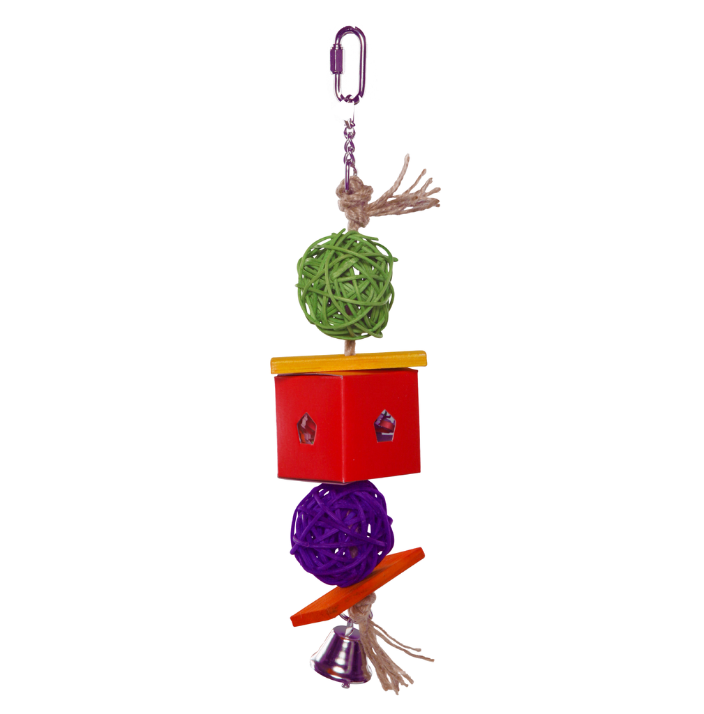 Twin Ball & Cardboard Foraging Toy - Kazoo Pet Co