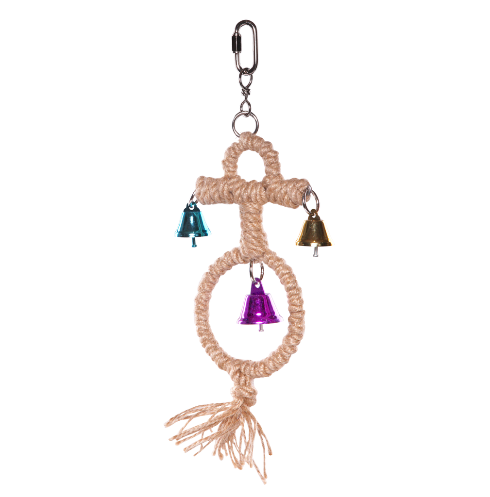 Round Rope Anchor with Bells - Kazoo Pet Co