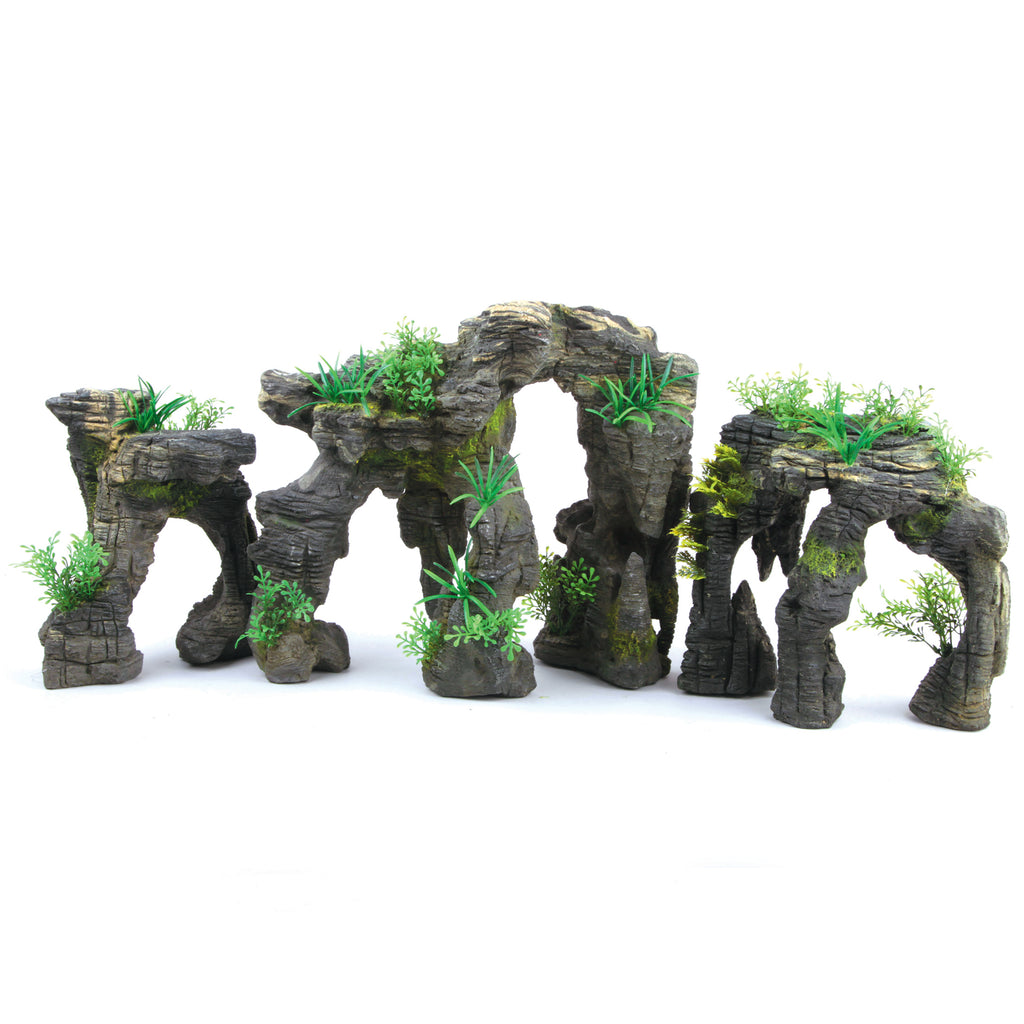 Greystone Arch With Plants - Small - Kazoo Pet Co