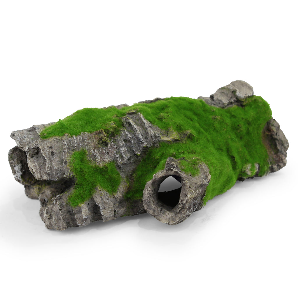 Hidey-hole Log With Moss - Medium - Kazoo Pet Co