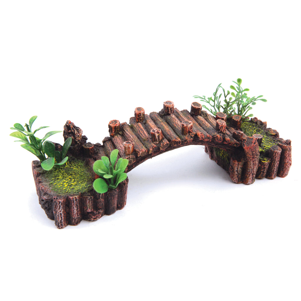 Log Bridge With Plants - Small - Kazoo Pet Co