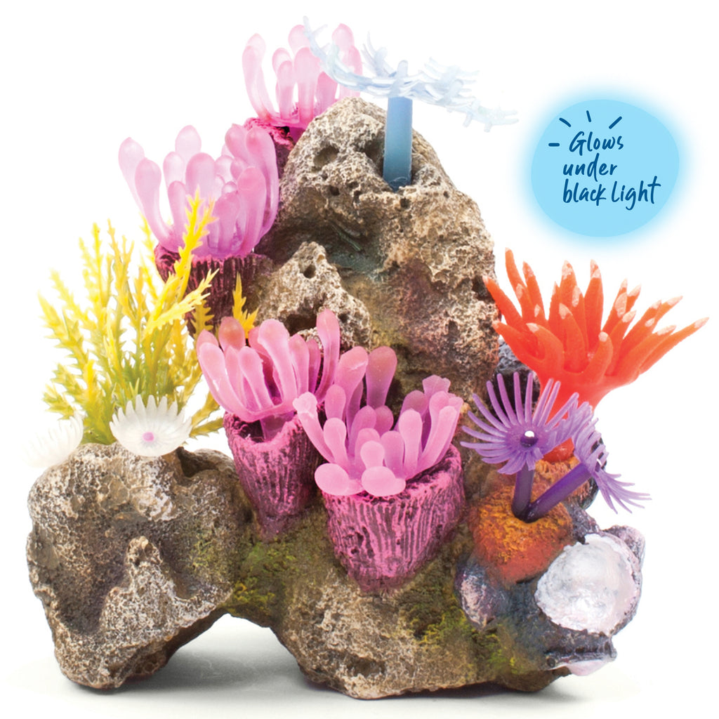 Soft Coral Garden With Rock - Small - Kazoo Pet Co