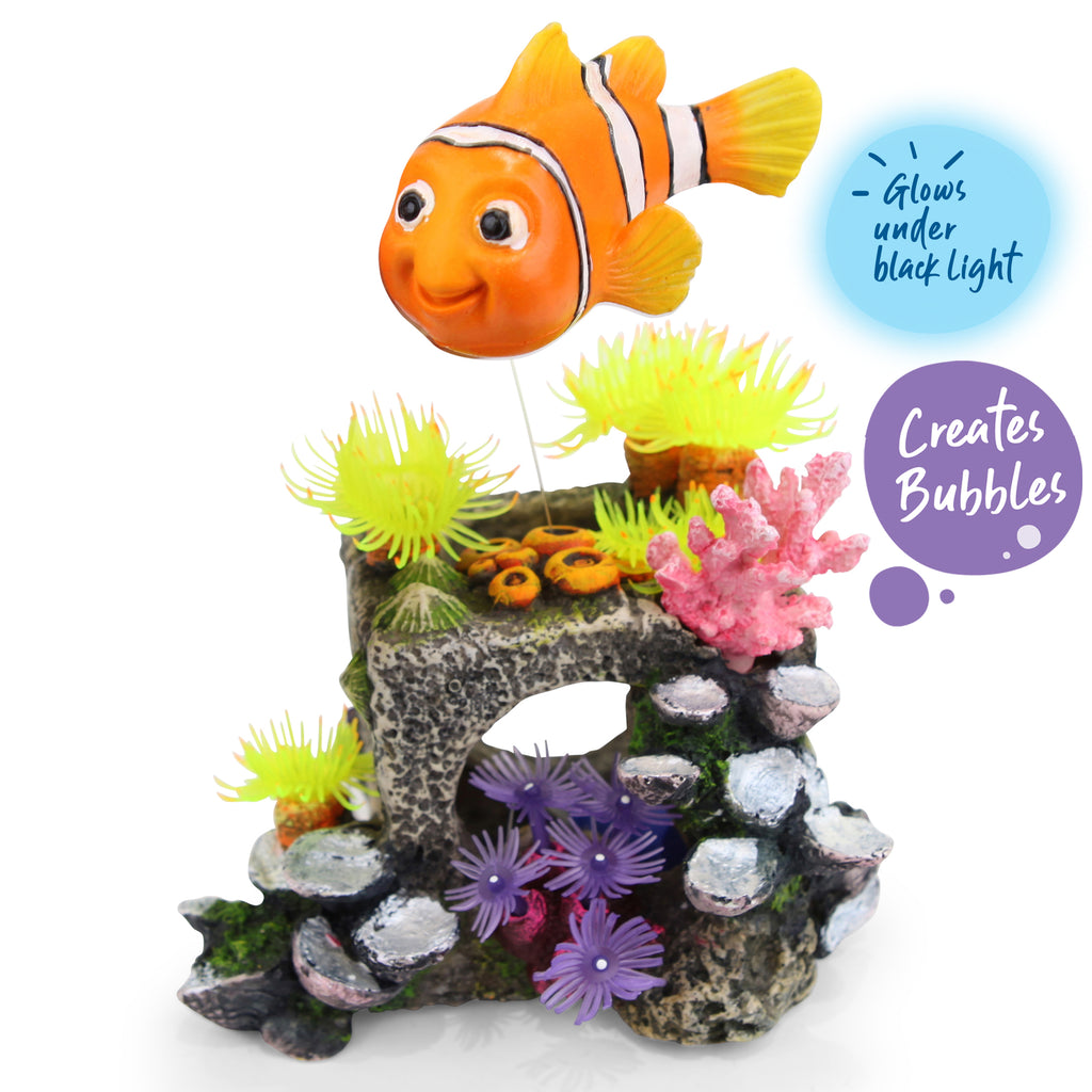Bubbling Block With Floating Fish - Medium - Kazoo Pet Co