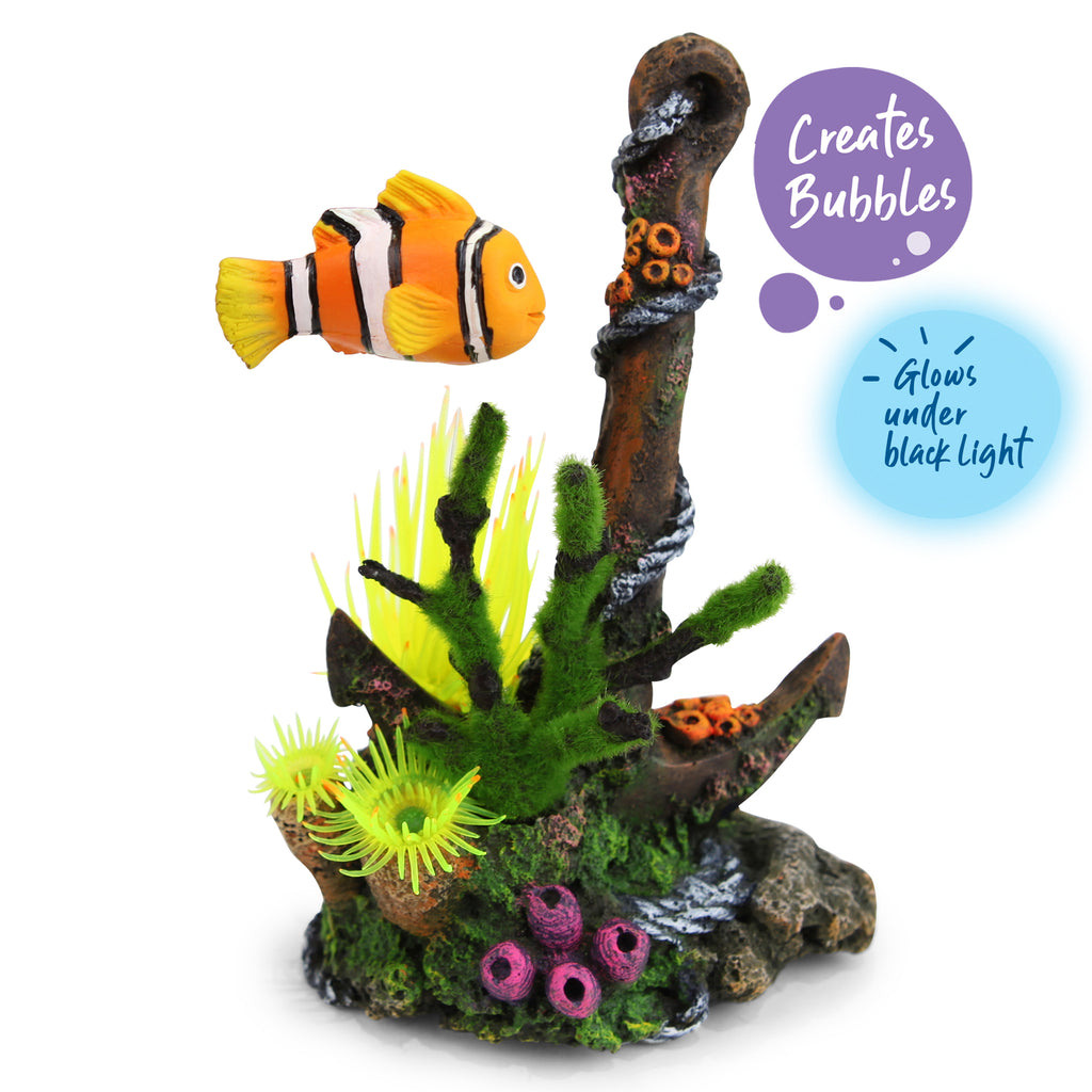Bubbling Anchor With Floating Fish - Medium - Kazoo Pet Co