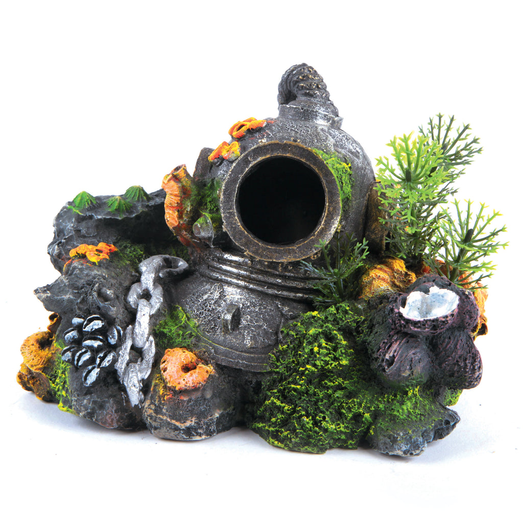 Divers Helmet With Plants - Kazoo Pet Co