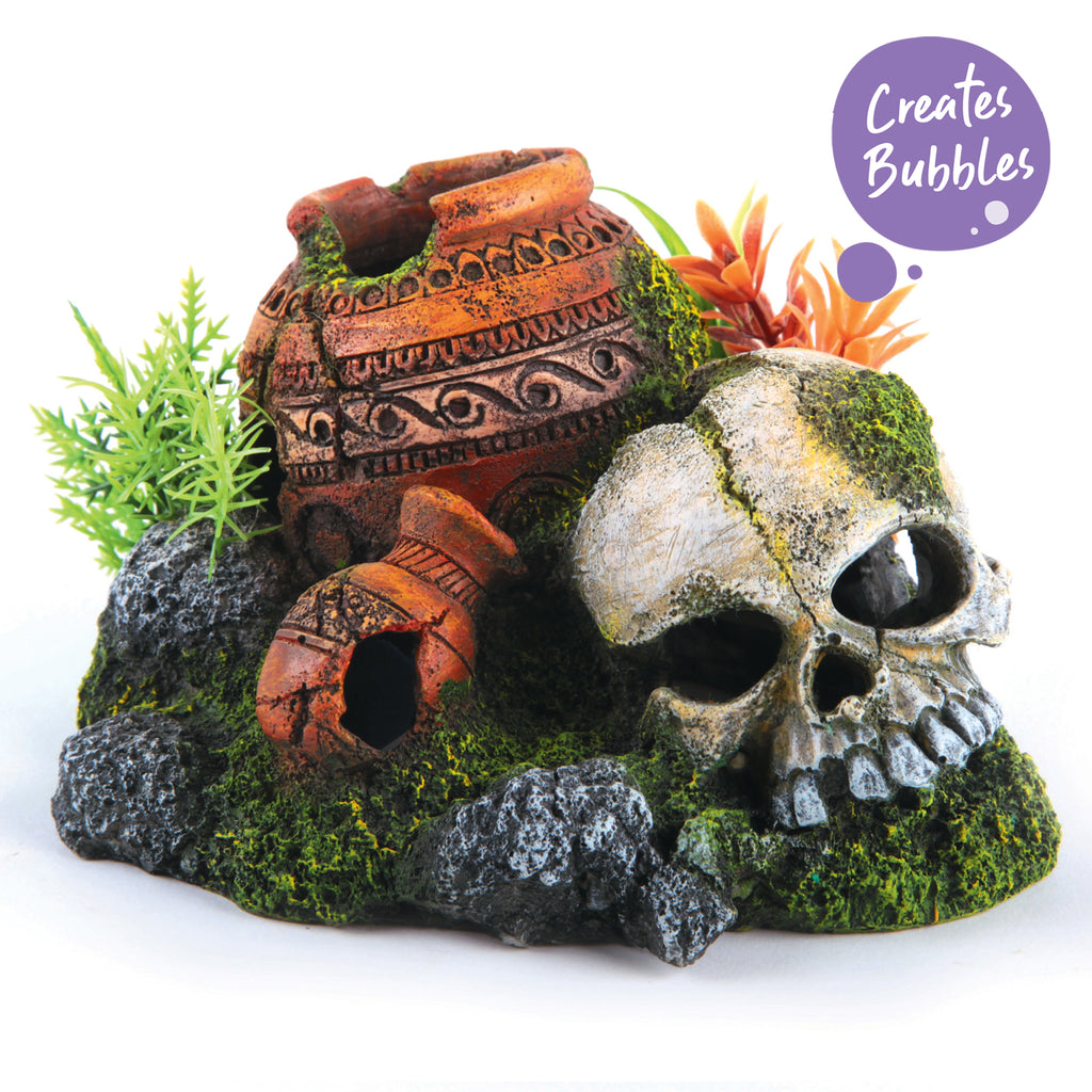 Bubbling Skull With Plants - Kazoo Pet Co