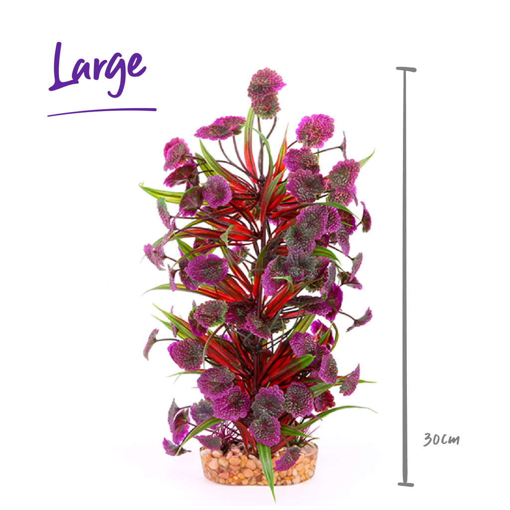 Plush Plant - Thin Leaf With Maroon Flower - Kazoo Pet Co