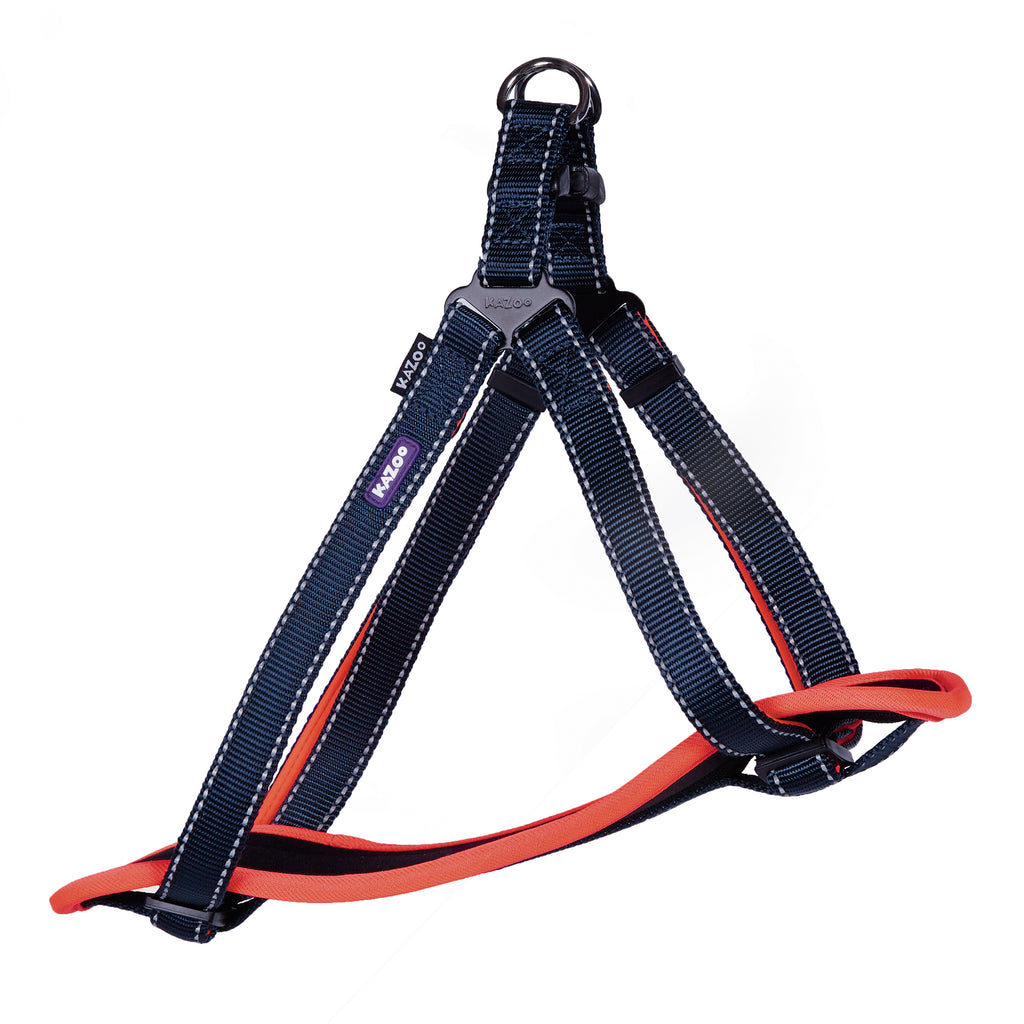 Active Walking Harness - Slate & Orange - Kazoo Pet Co