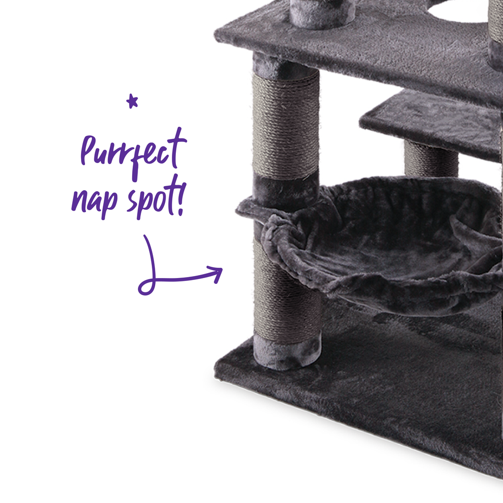 5 Level Playground - Charcoal - Kazoo Pet Co