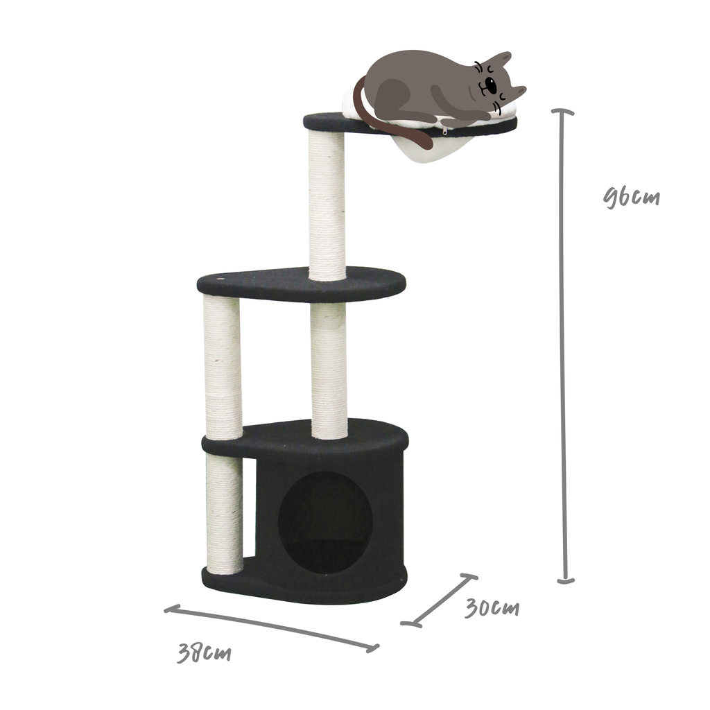 Kitty 3 Tier Play Platform - Kazoo Pet Co