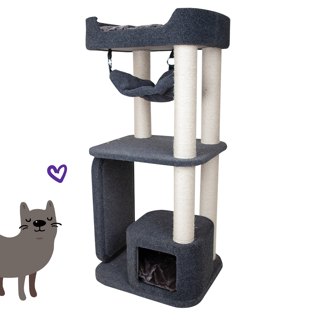 Kitty High Bed & Hammock - Kazoo Pet Co
