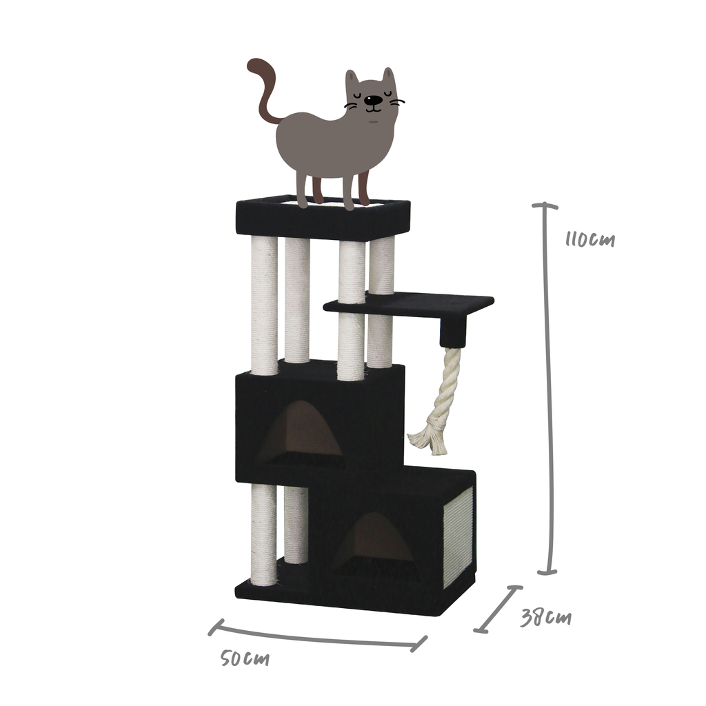 Kitty Stacked Cube Playground - Kazoo Pet Co