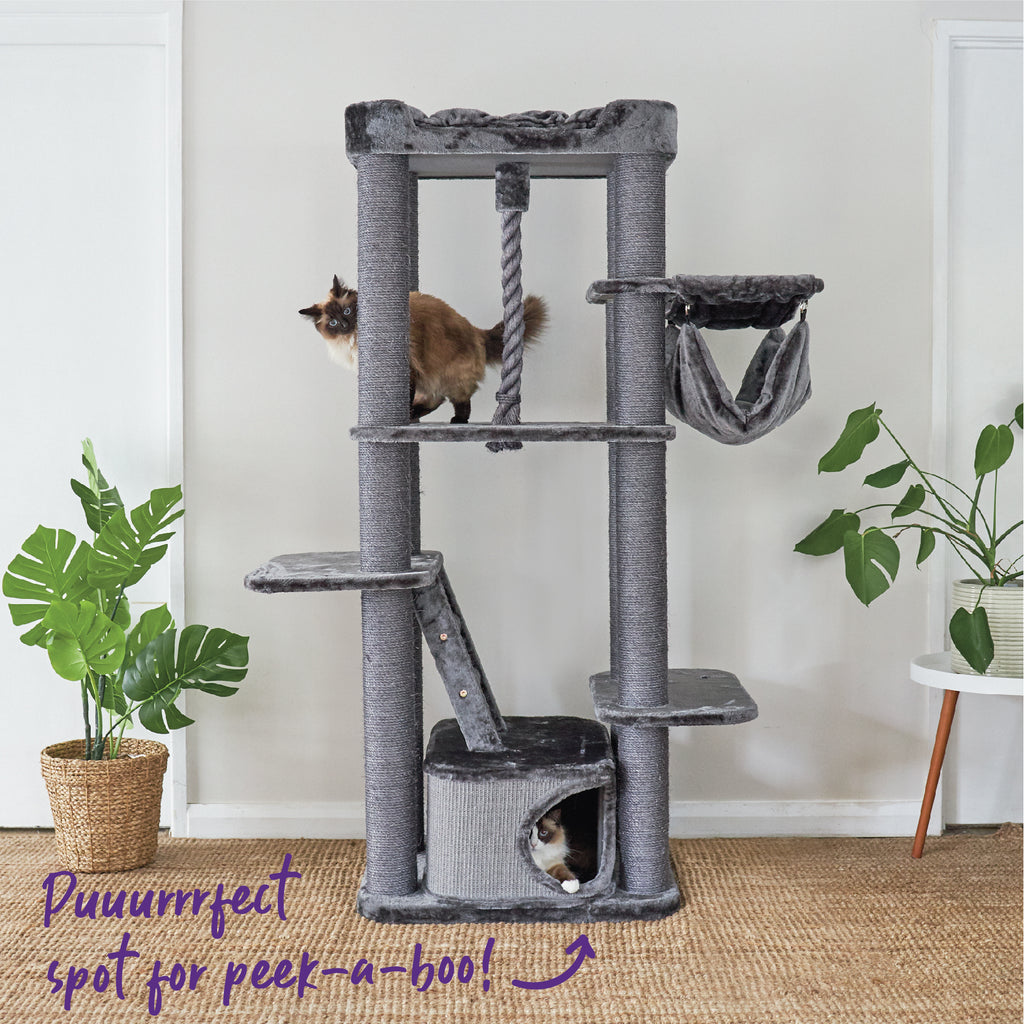 Kitty Climb Playground - Charcoal