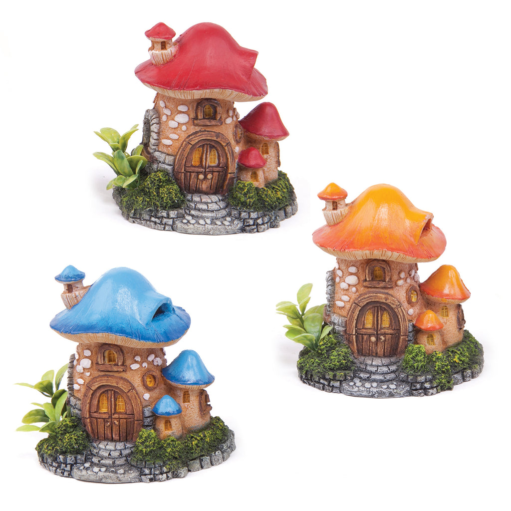 Mushroom House With Plants