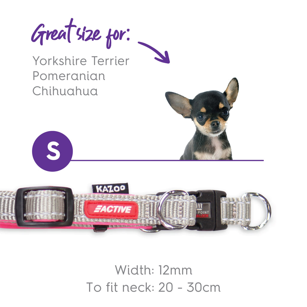Active Adjustable Collar - Silver & Pink - Kazoo Pet Co