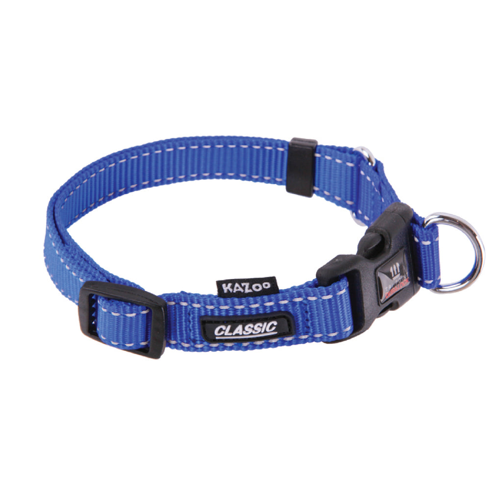 Classic Adjustable Collar - Blue - Kazoo Pet Co