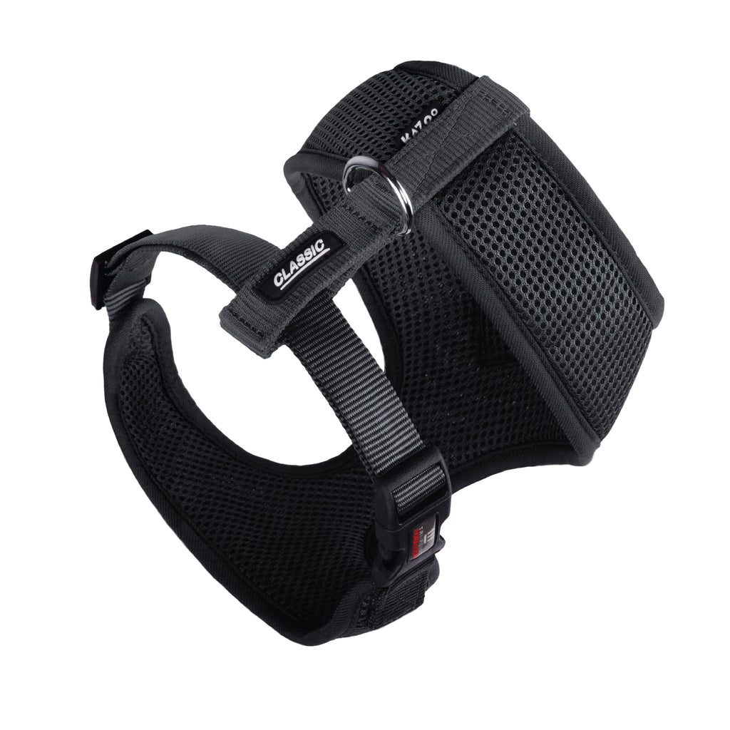 Classic Soft Walking Harness - Black - Kazoo Pet Co