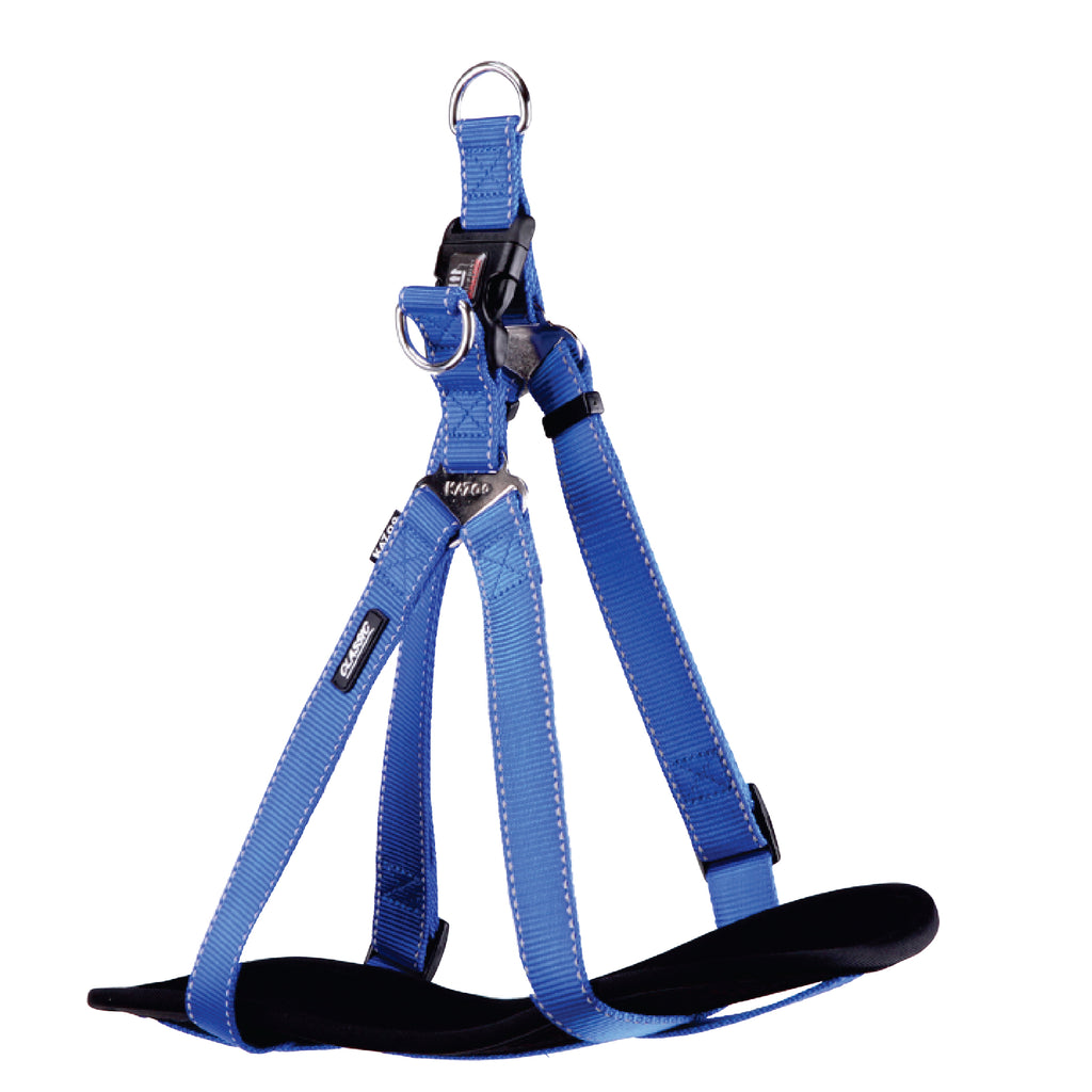 Classic Walking Harness - Blue - Kazoo Pet Co