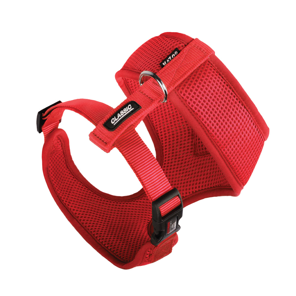Classic Soft Walking Harness - Red - Kazoo Pet Co