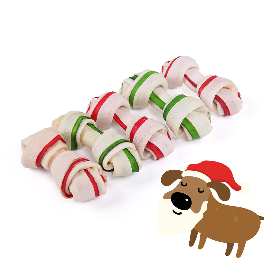 Christmas Mini Knot Bone - 5 Pack