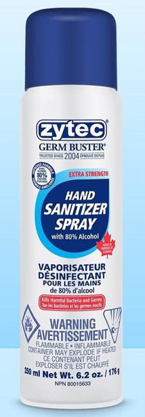 Zytec Sanitizer Spray Extra Strength 80% Alcohol  250 ML
