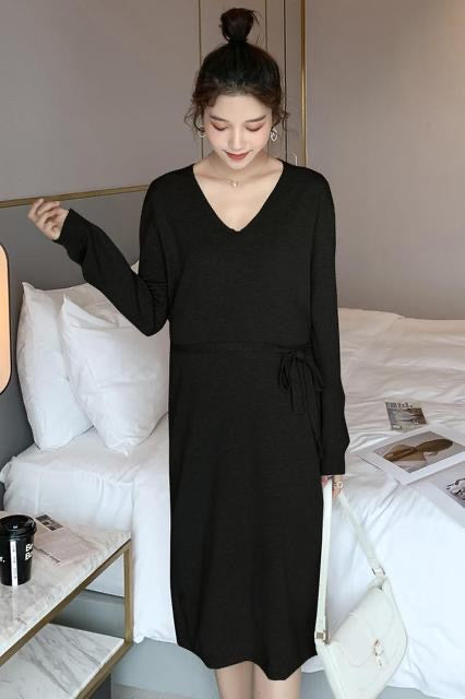 Sylvia Long Sleeves Long Knit Dress