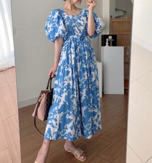 Open image in slideshow, Abigail Lace Up  Long Dress